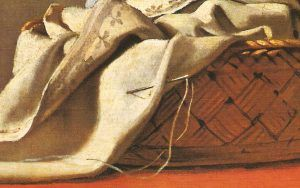"""Jacques-Louis David, needle detail in """"Bruto and the Lictores"""""""