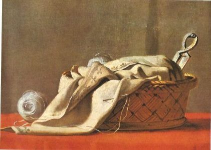 """Jacques-Louis David sewing case, detail of """"Bruto and the Lictores"""""""