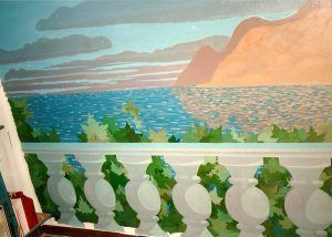 Feigned mural, Balustrade 1987, oil on canvas adhered to the wall, 220x300 cm