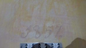 The date on the painted wall