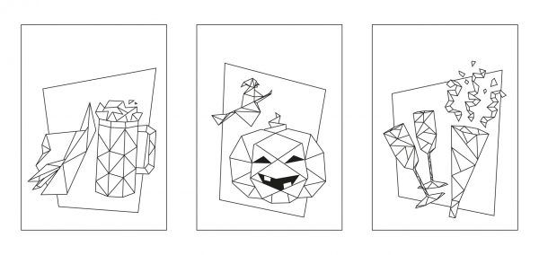 Some ideal sketches for creative origami