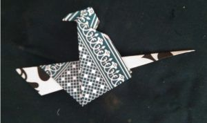 Witch with inverted fold playing card cardboard
