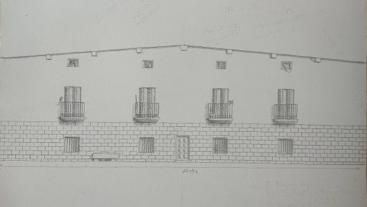 Ideal sketch for the painted architectural feigned in Alfocea, Huesca